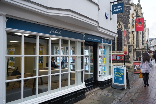 Street view of Wards Canterbury's branch refurb.